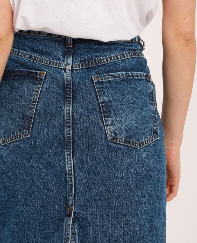 Jupe midi en jean bleu denim - Pimkie