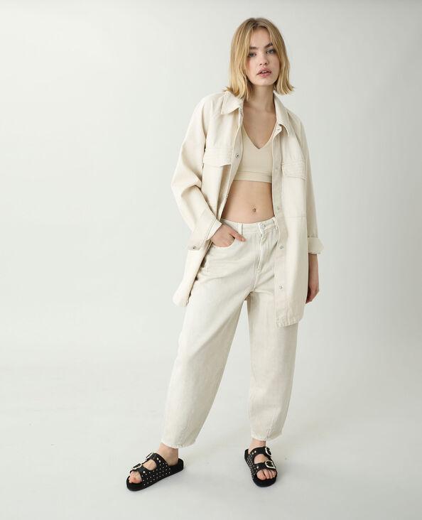 Jean slouchy high waist beige ficelle - Pimkie