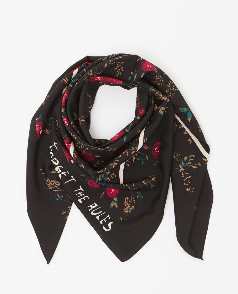 Foulard fleuri noir - 907633899N06   Pimkie 4210f111b00
