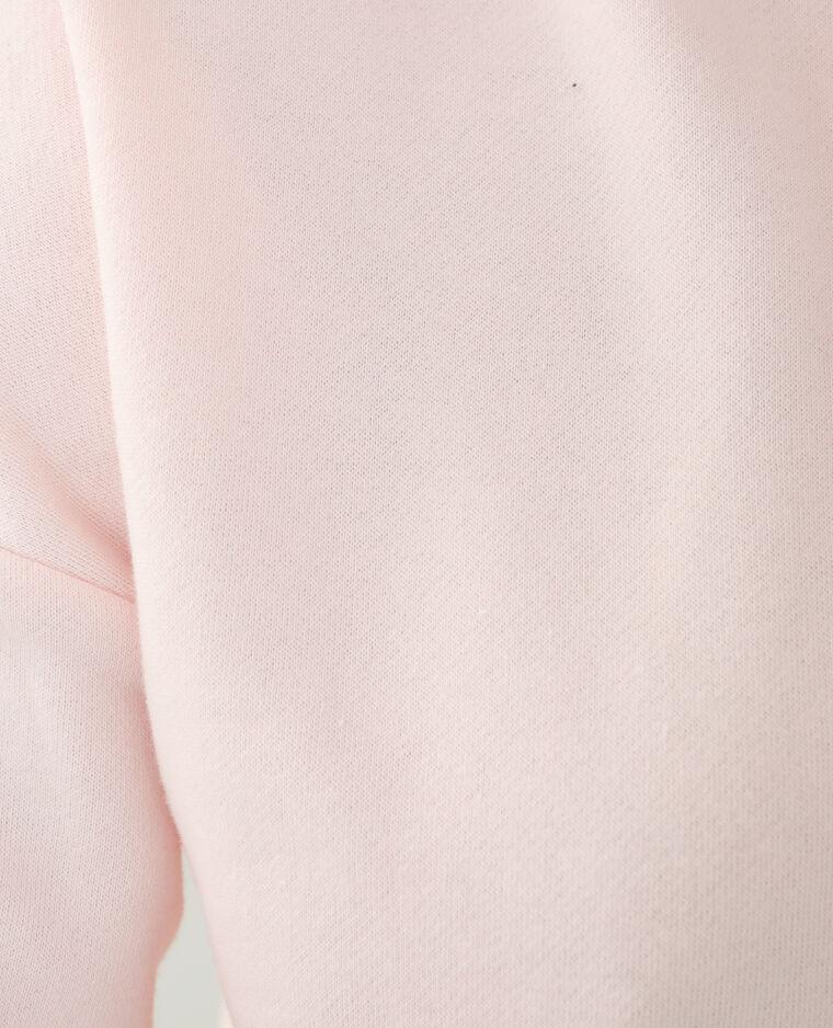 Sweat à capuche molleton oversize rose - Pimkie