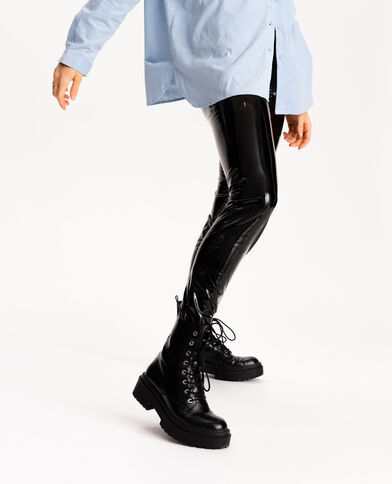 Legging vinyl noir