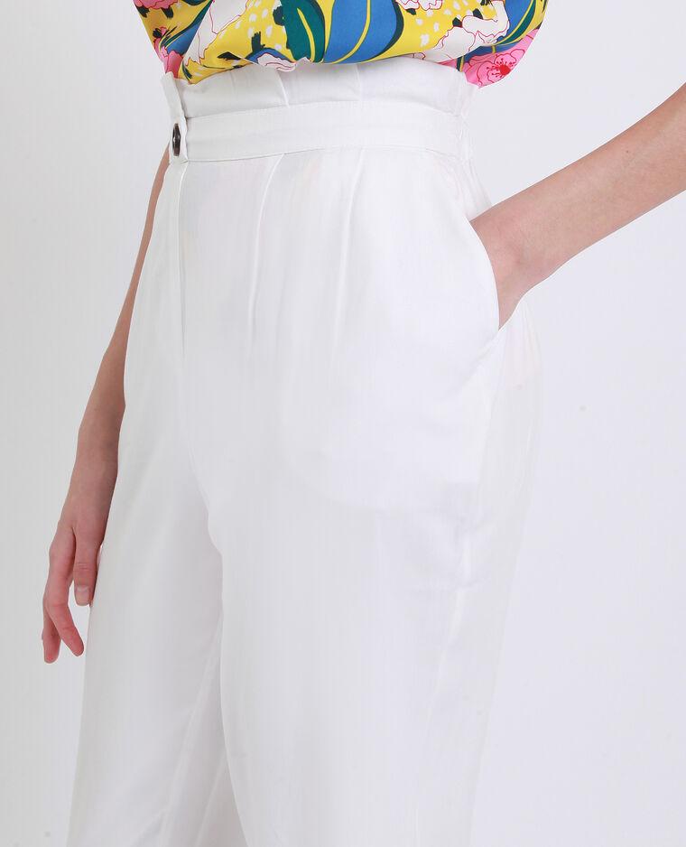 Pantalon carotte blanc