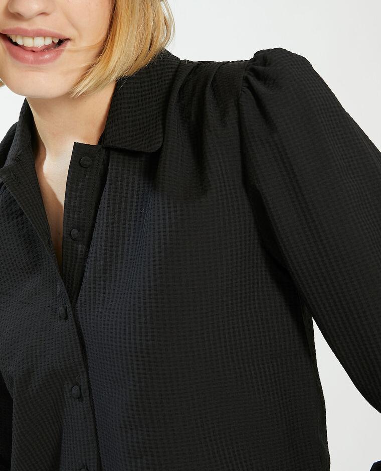 Chemise motifs en relief noir - Pimkie