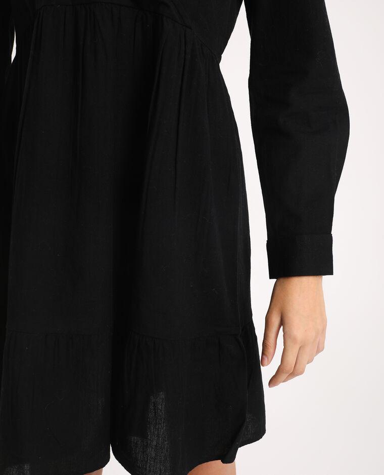Robe à col V noir