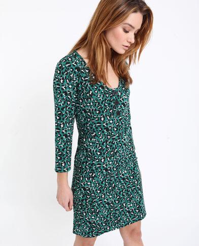 Robe midi léopard vert e150205bc7a