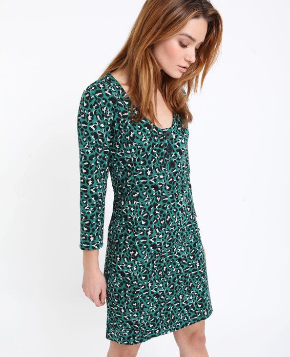 Robe midi léopard vert b8b467f60ea