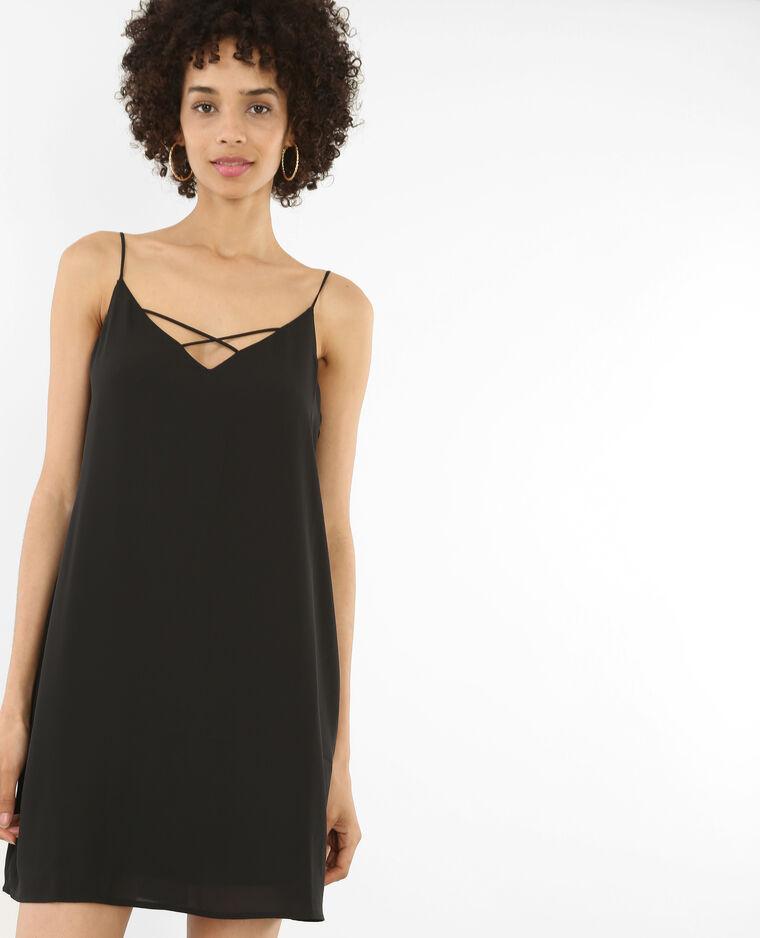 efdb00959c Robe croisée noir - 780690899A08 | Pimkie