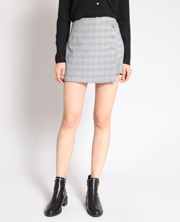Jupe short à carreaux gris