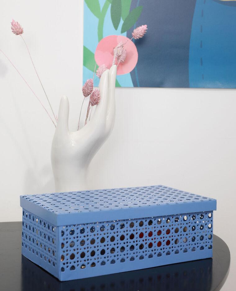 Boîte en métal façon cannage lilas - Pimkie