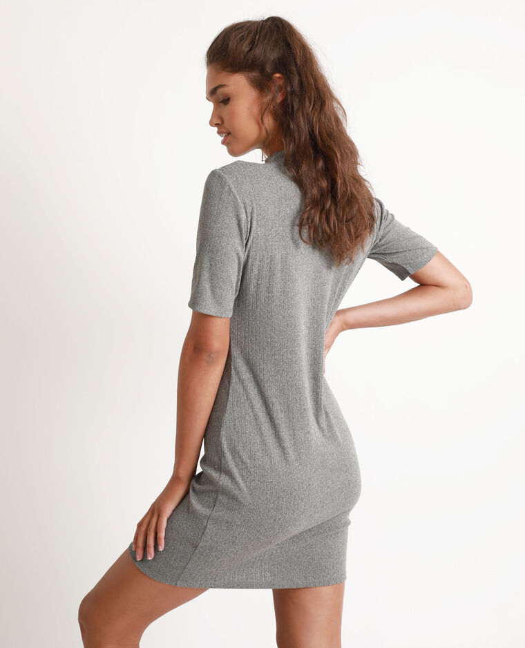 Robe bicolore gris chiné
