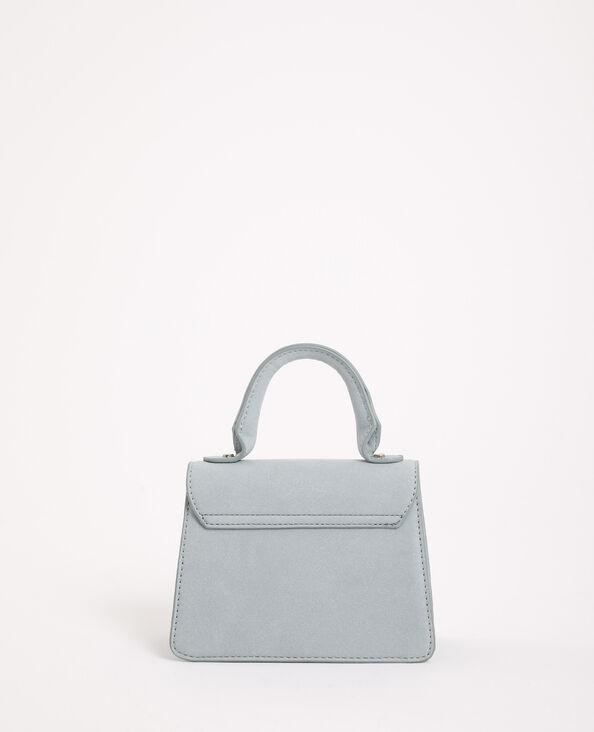 Mini sac suédine bleu ciel