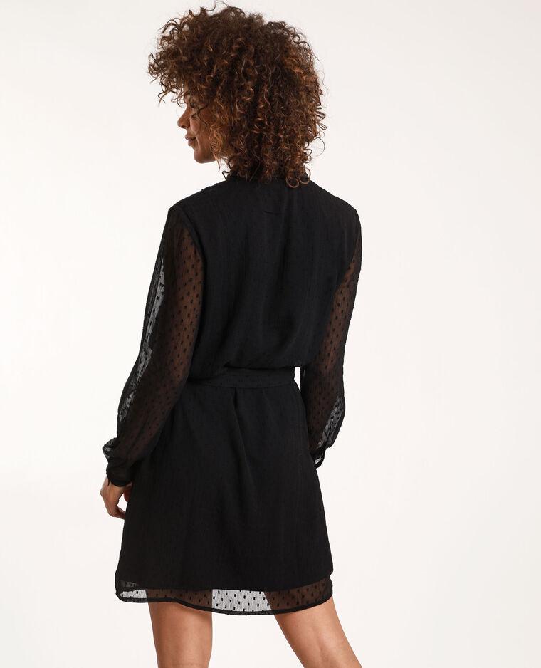 Robe à plumetis noir - Pimkie