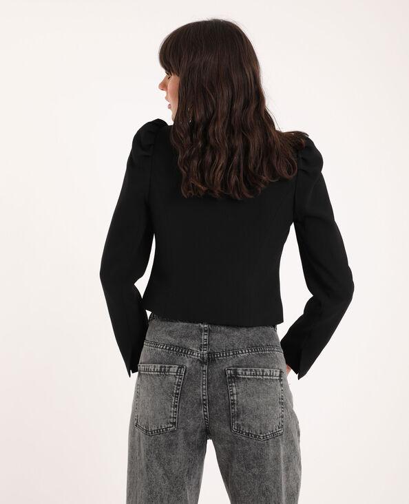 Veste à manches bouffantes noir