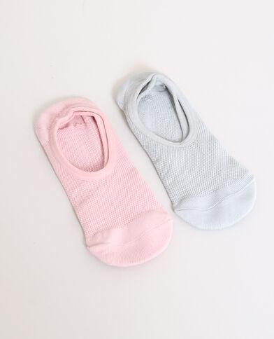 Lot de 2 paires de chaussettes basses gris