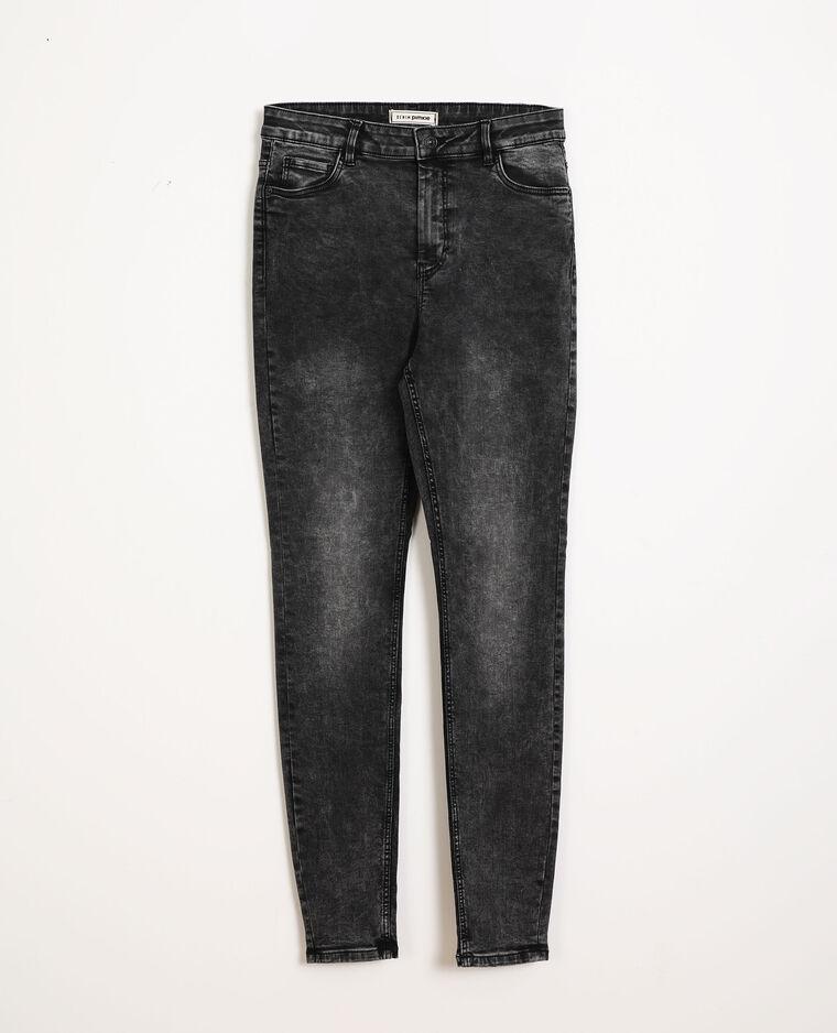Jean skinny taille haute gris usé
