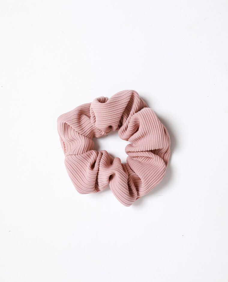 Chouchou texturé rose poudré