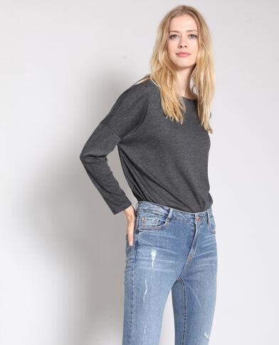T-shirt à manches longues gris d7d4235a0b24