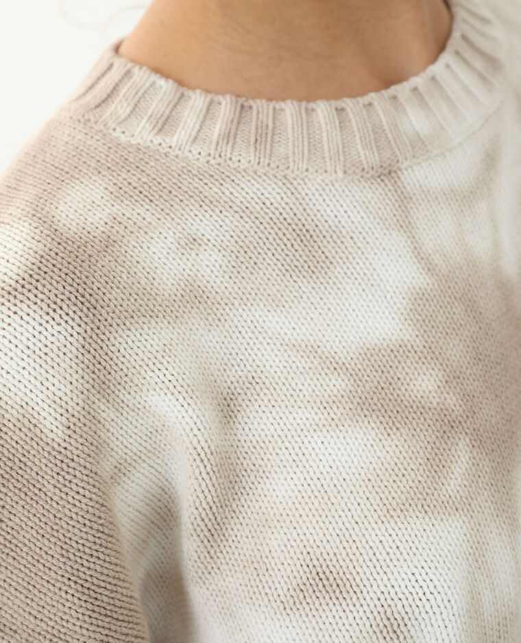 Pull oversize tie and dye beige - Pimkie