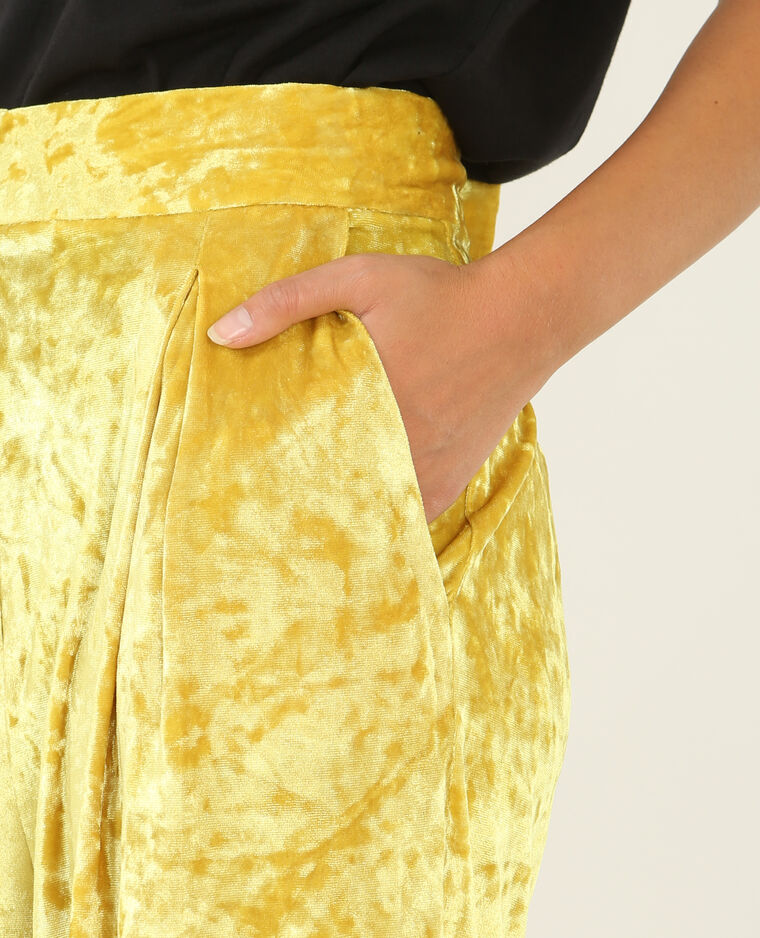 Pantalon flare effet velours jaune - Pimkie