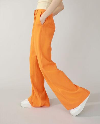 Pantalon wide leg orange