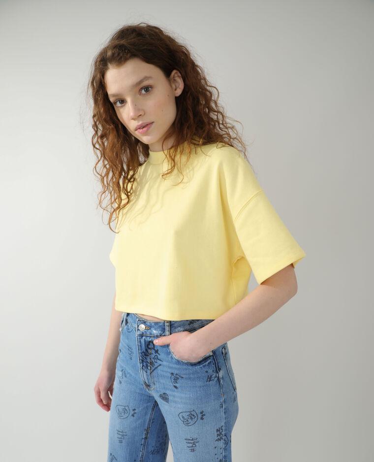 Sweat cropped jaune - Pimkie