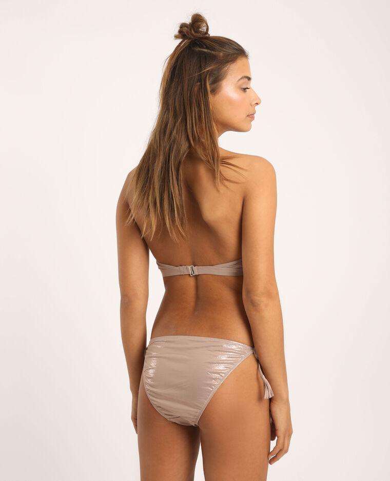Haut de bikini à franges cuivré