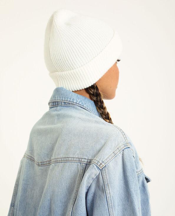 Bonnet avec revers blanc