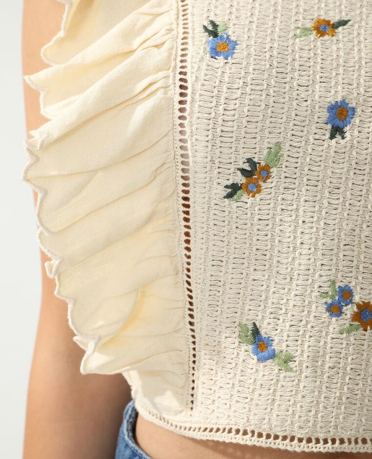 Top crochet beige - Pimkie