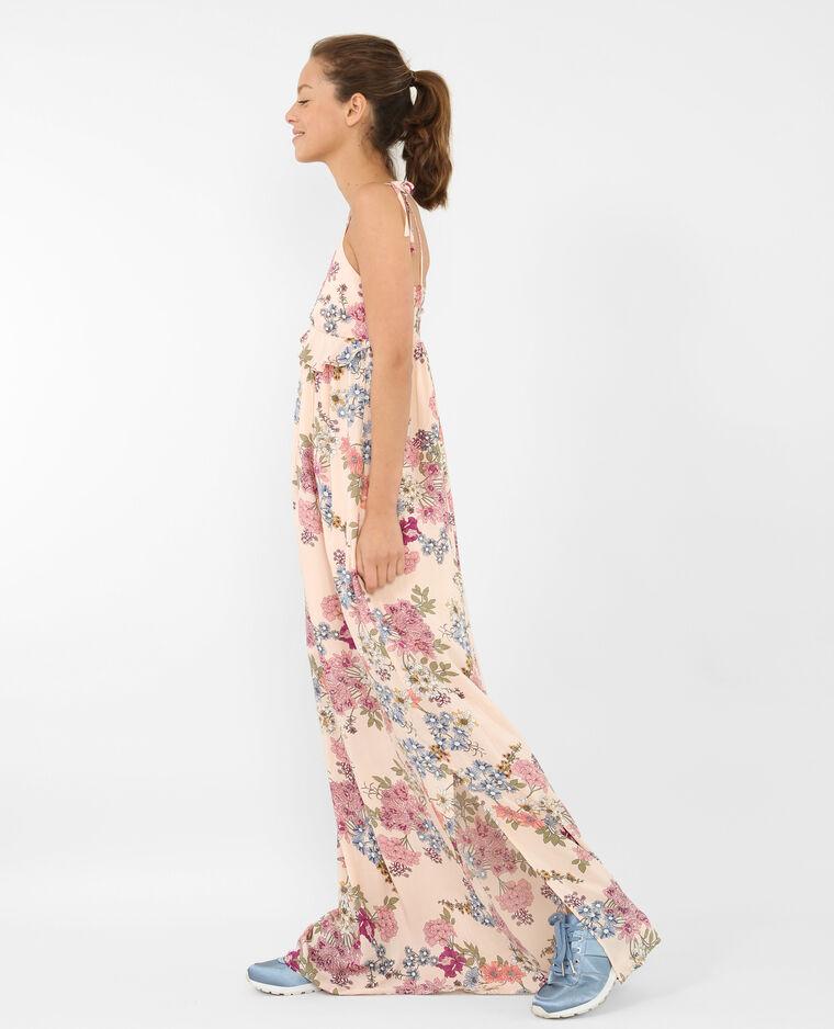 d8fbfd5843b Robe longue fleurie rose pâle - 780712I03E32