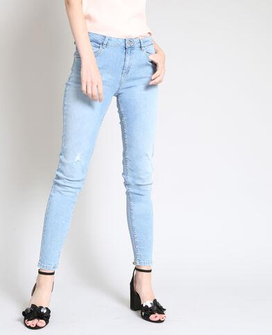 Jean skinny stretch bleu clair