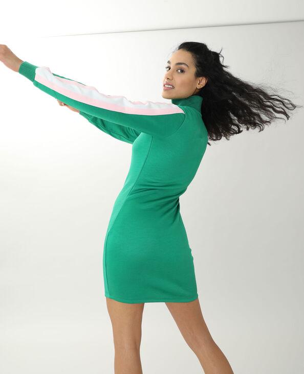 Robe col zippé vert