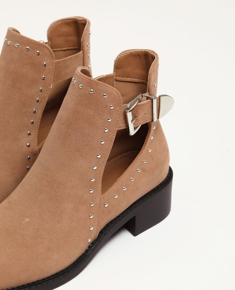 Boots ajourées écru