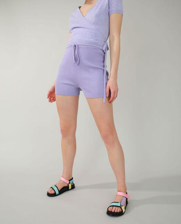 Cycliste côtelé violet - Pimkie