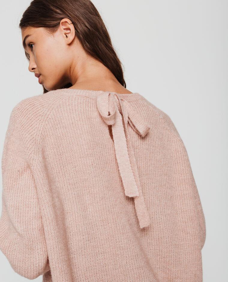 Pull à nœud rose