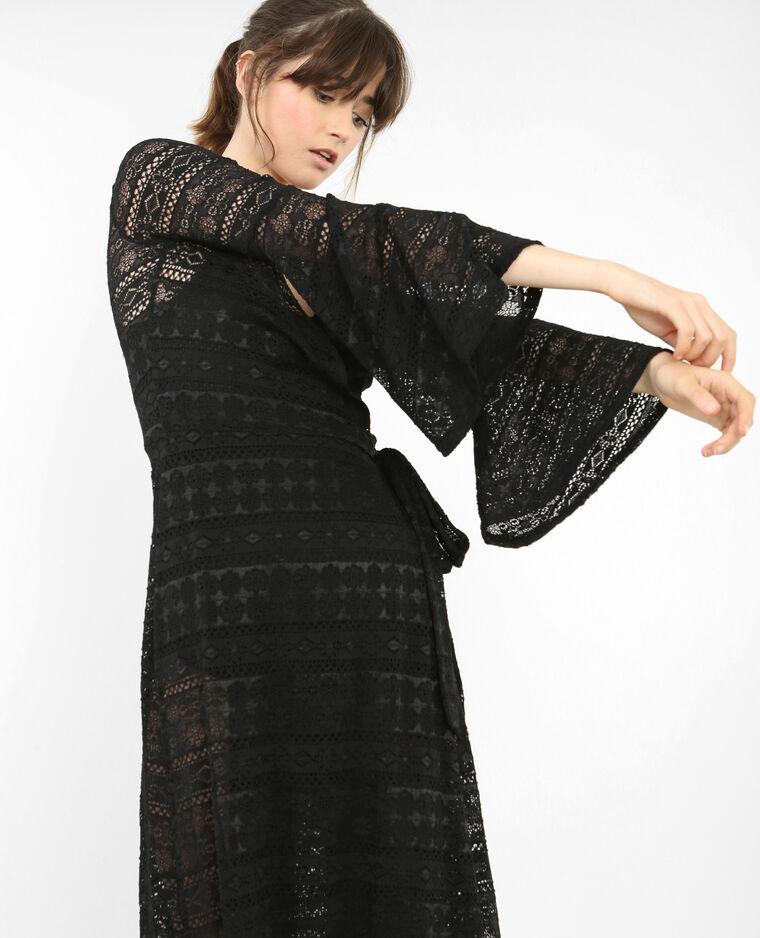 Robe Longue En Dentelle Noir 780694899a08 Pimkie