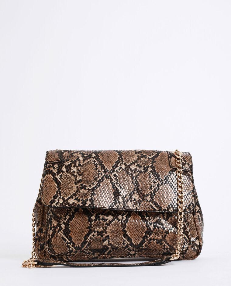 sac a main cuir python