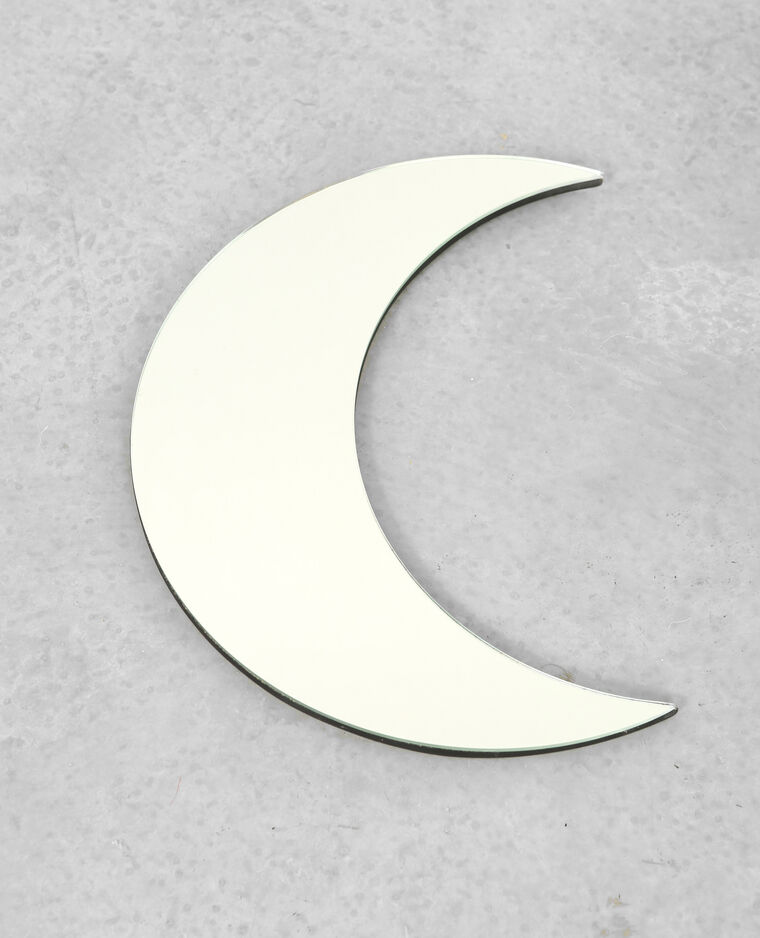 Miroir croissant de lune gris