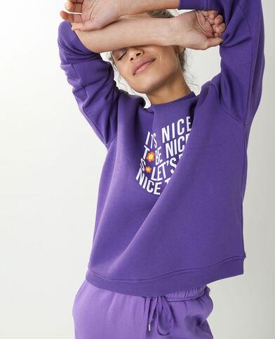 Sweat oversize violet - Pimkie