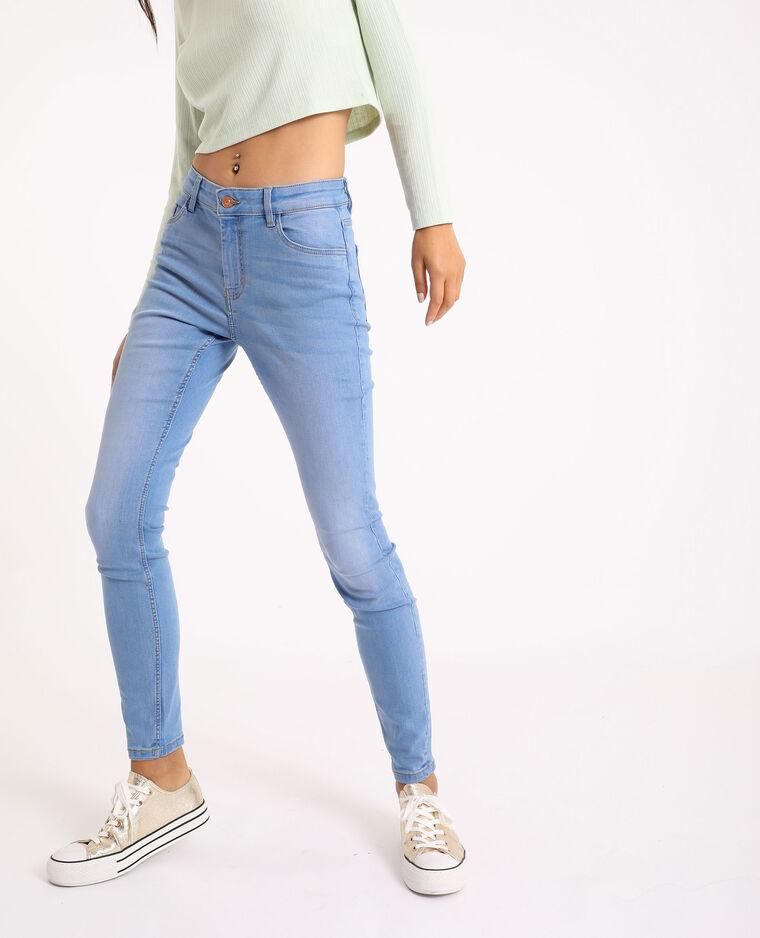 Jean skinny mid waist bleu jean