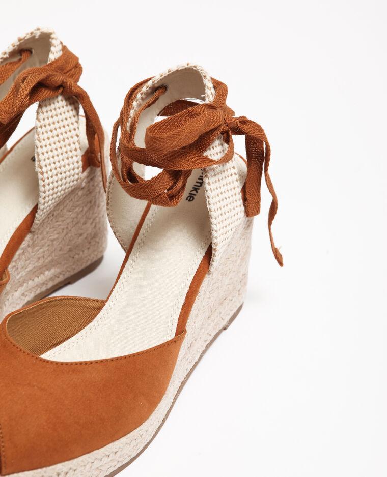 Sandales compensées marron