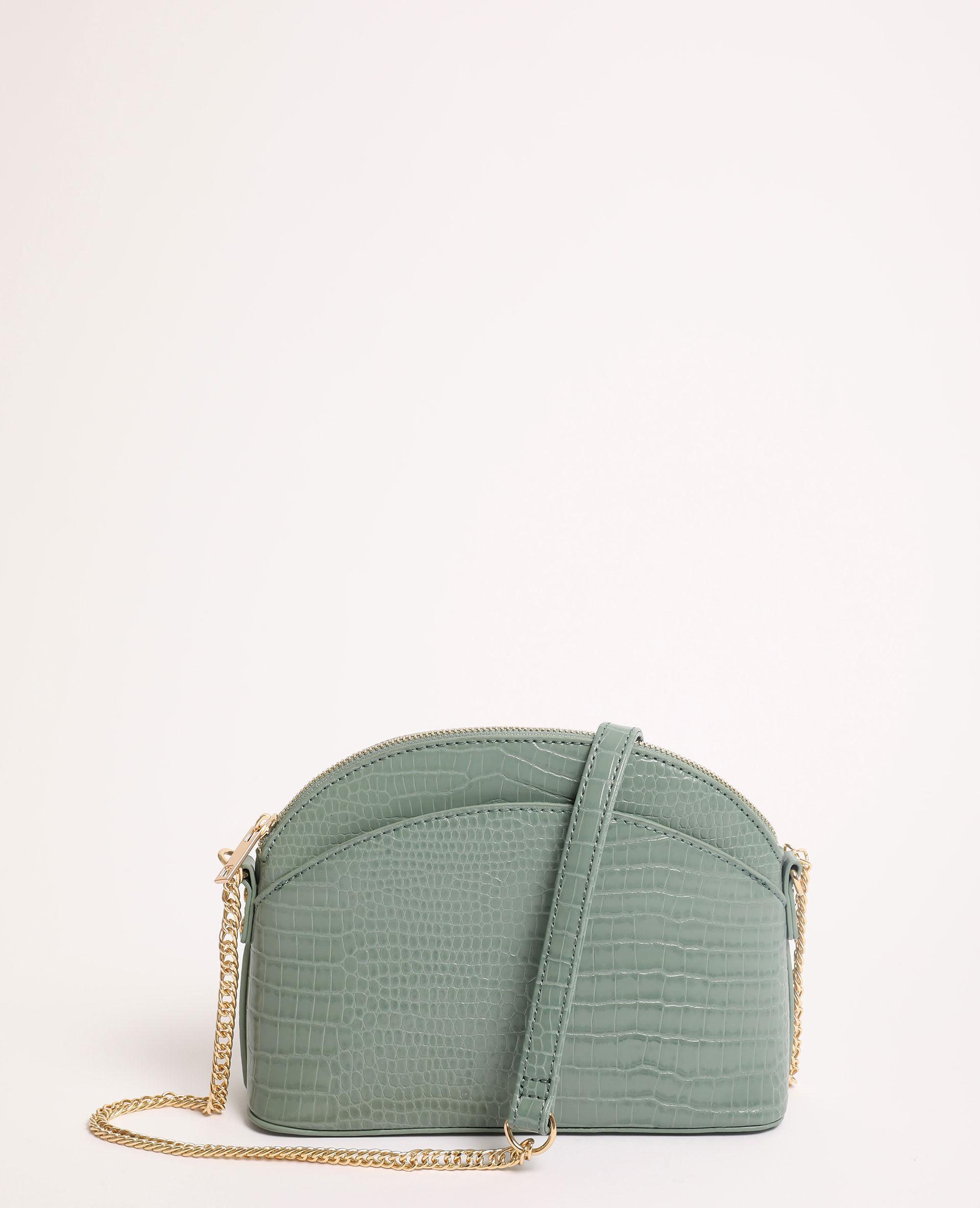 Freyday Sac /à main en cuir v/éritable pour femme avec sac /à bijoux Rouge Rouge crocodile,