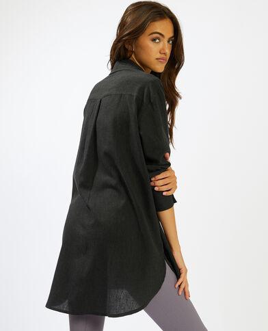 Chemise longue noir - Pimkie