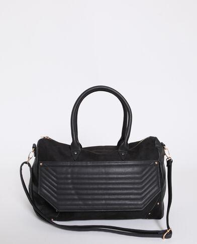 2b15781c54361 Grand sac en faux cuir noir