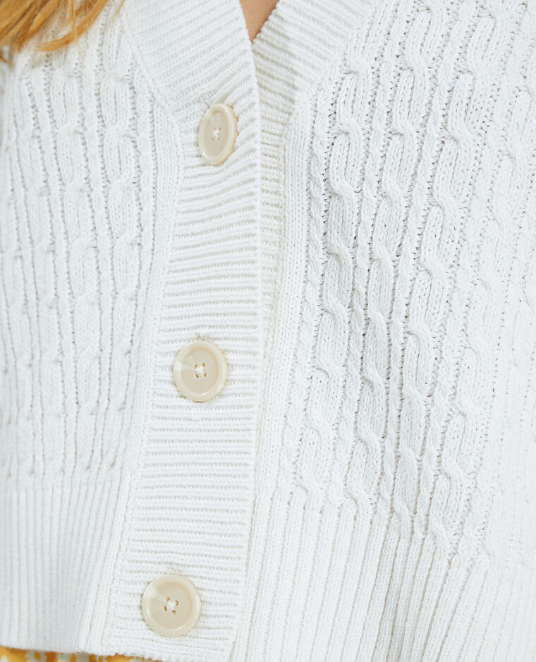 Gilet torsadé blanc - Pimkie