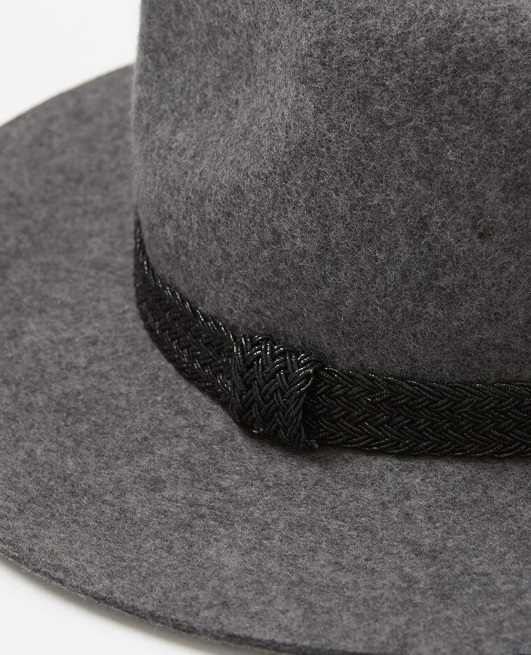 Fedora bande irisée gris anthracite