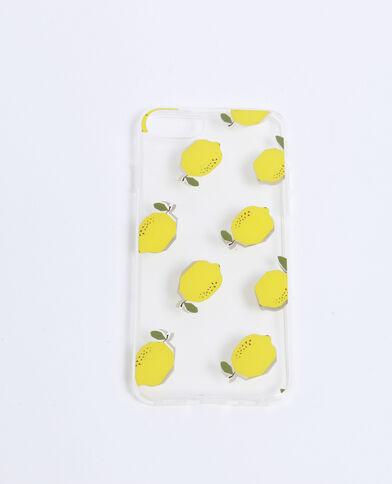 Coque compatible iPhone à citrons jaune