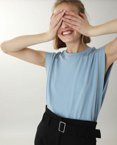T-shirt sans manche bleu - Pimkie