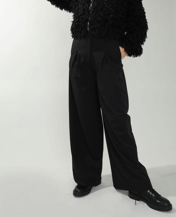 Pantalon city ample noir - Pimkie
