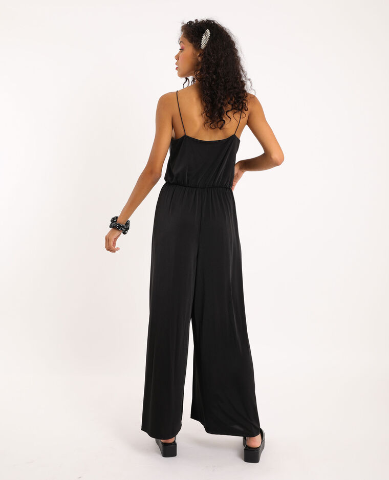Combi-pantalon fines bretelles noir