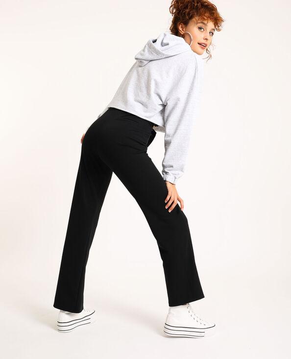 Pantalon évasé noir